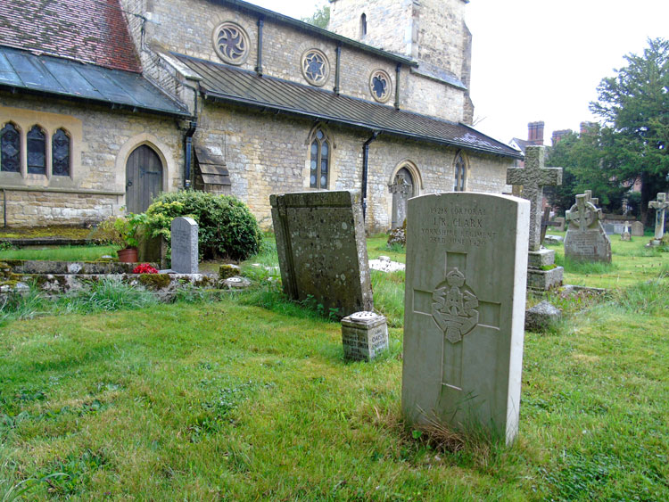 Corporal Clark's Grave in St. Mary's Churchyard, Addington (Bucks)