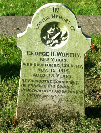 Private George Henry Worthy, 12853.