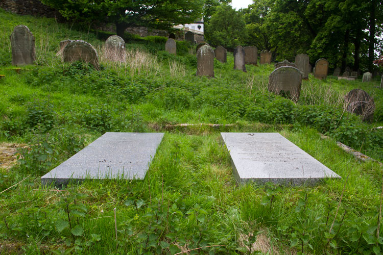The Lodge Family Graves, with that of Colonel John William Lodge on the left
