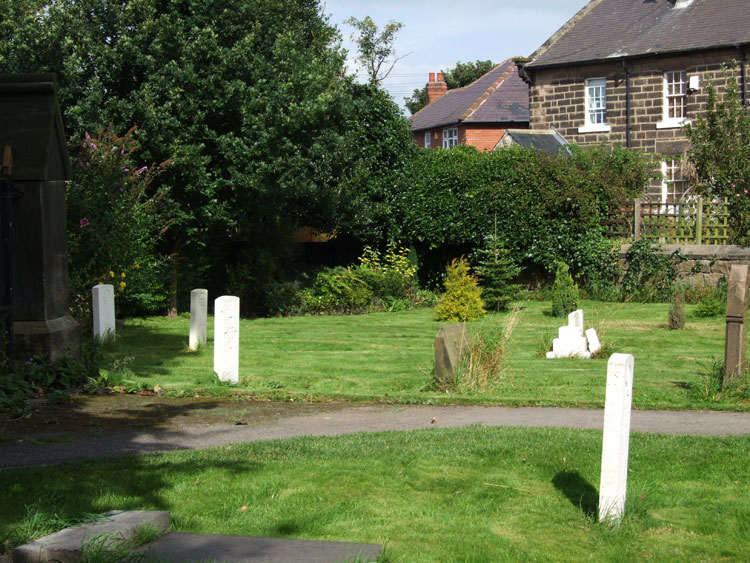 Bilton (St. John) Churchyard. Private Kidson's grave is third from the left.