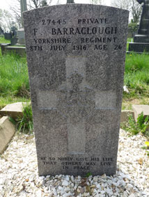 Private Fred Barraclough. 27445