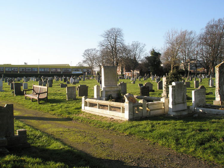 A General View of Part of Portsmouth (Milton) Cemetery, Looking Towards Milton Road