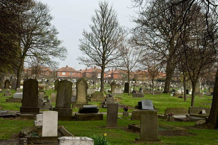 A general view of the Newcastle-upon-Tyne (Byker and Heaton) Cemetery.