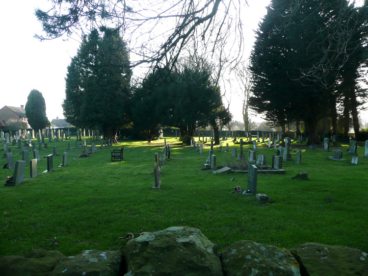 A view of the Cloughton Church Cemetery