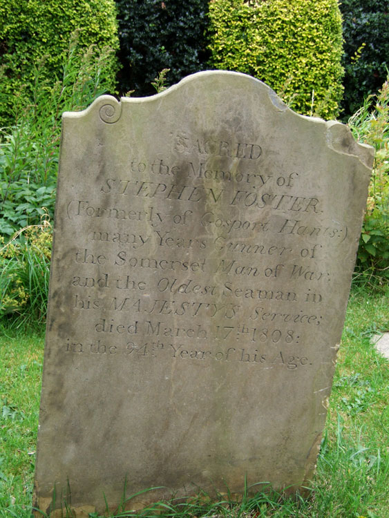 Stephen Foster's headstone in Copmanthorpe (St. Giles) Churchyard