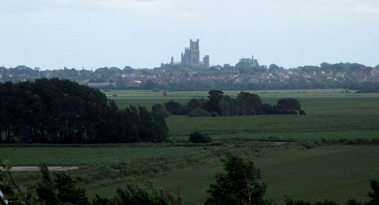The View Towards Ely Cathedral from the Coveney Wesleyan Methodist Chapel.