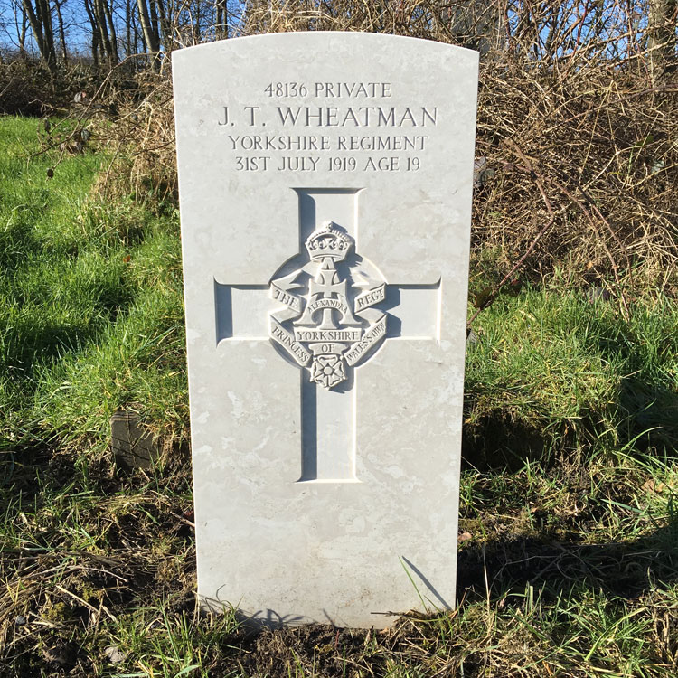 Private James Thomas Wheatman. 48136.