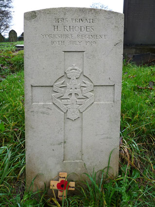 Private Harry Rhodes. 41315.
