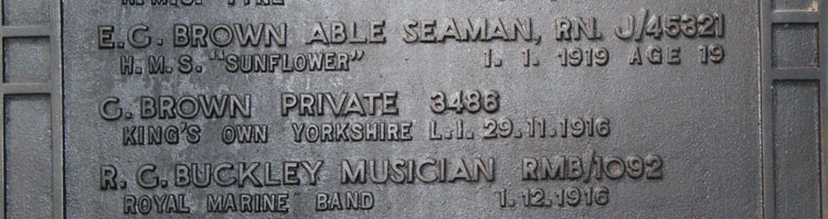 The Name of Private Brown on the Screen Wall, Edinburgh (Seafield) Cemetery