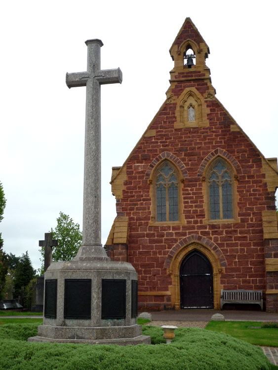 The War Memorial in Exeter Higher Cemetery Commemorating Those Buried in the Cemetery