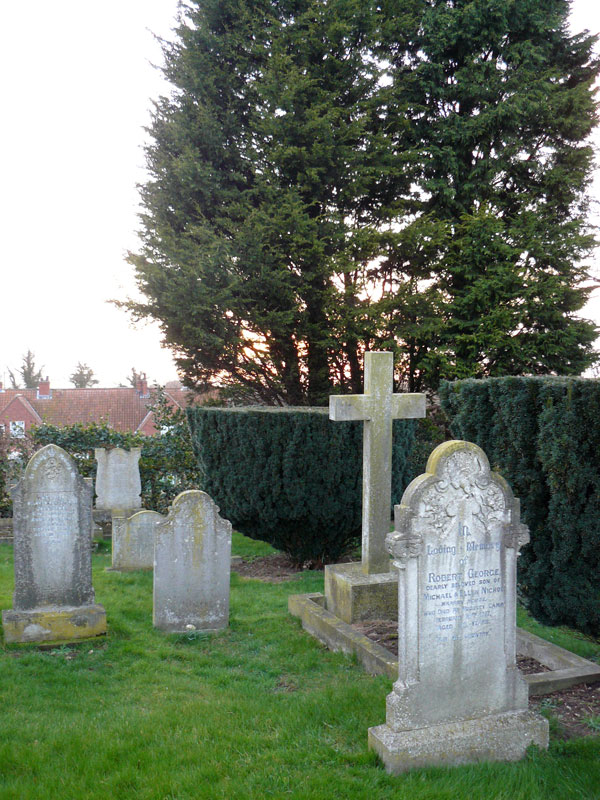 Private Nicholl's headstone in Gantion (St. Nicholas) Churchyard