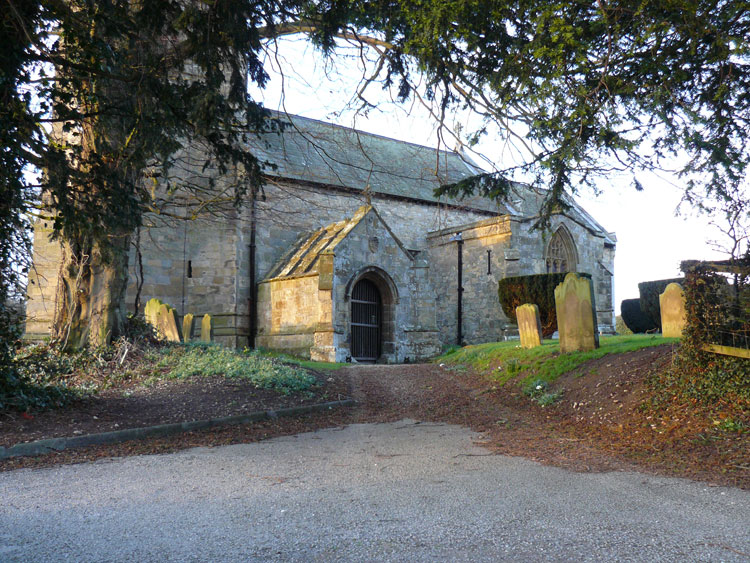 The entrance to St. Nicholas' Church, Ganton