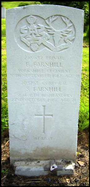 The grave of Benjamin and Sam Farnhill