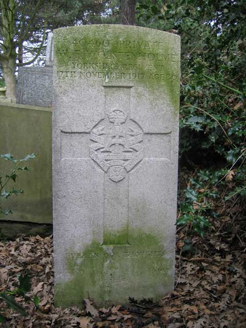 The grave of Private Walter Ernest Wolstenholme