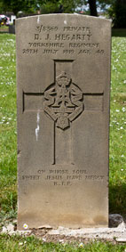 Private D J Hegarty. 3/8369.