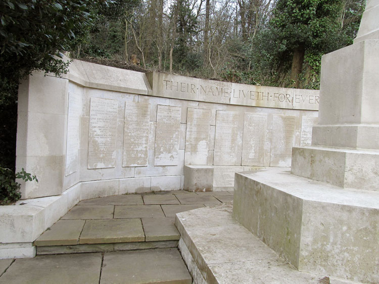 The Screen Wall in HIghgate Cemetery (West)