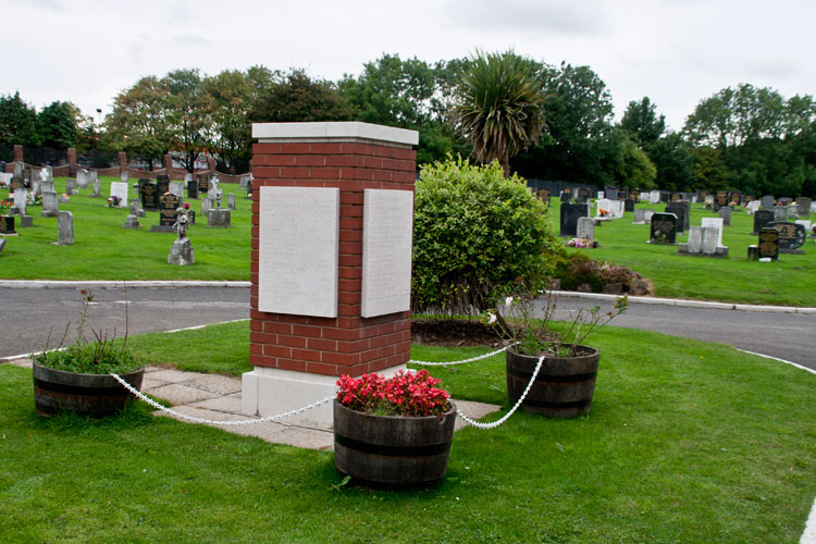 The Commemorative Screen Wall in Horden (Thorpe Road) Cemetery.