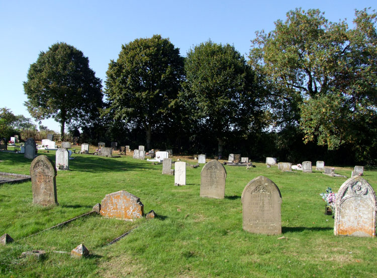 King's Cliffe Cemetery and Private Robert's grave (centre)