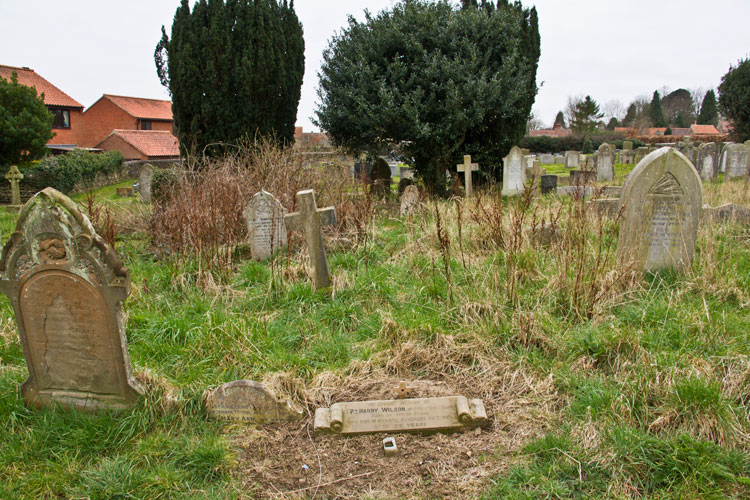 Private Wilson's Headstone in Kirkbymoorside (All Saints') Churchyard