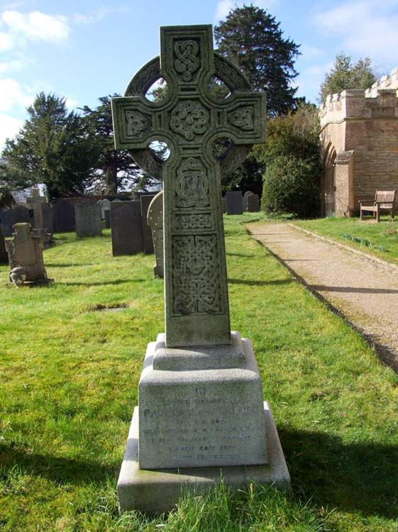 The Family Headstone for Private Charles Goodwin in Langar (St. Andrew) Churchyard
