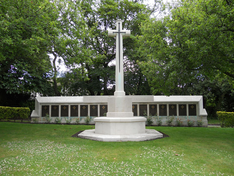 The main War Memorial in Leeds (Lawnswood) Cemetery,