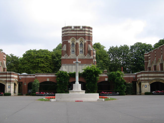 The Cross of Sacrifice at the Entrance to Leicester (Gilroes) Cemetery