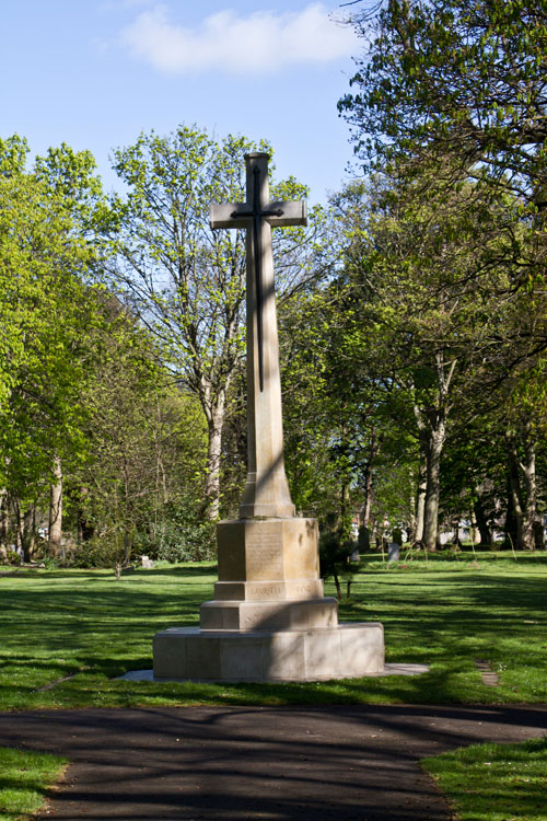 The Cross of Sacrifice in MIddlesbrough (LInthorpe) Cemetery