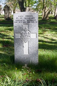 Private Percy William Allenby. 4481.