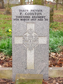 Private Francis Coulton. 26678.