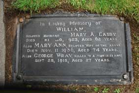 The Wray / Easby Family Headstone
