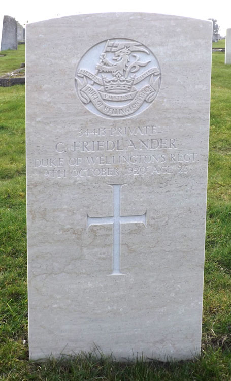 Private Charles E Friedlander. 33143.
