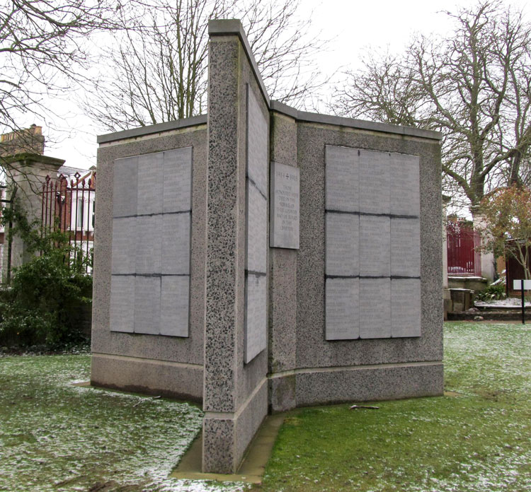 The First World War Screen Wall in Nunhead (All Saints) Cemetery