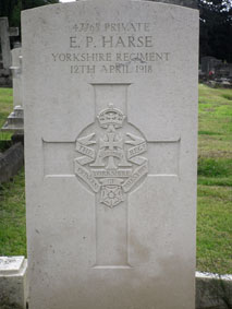 Private Ernest Percy Harse, 47765
