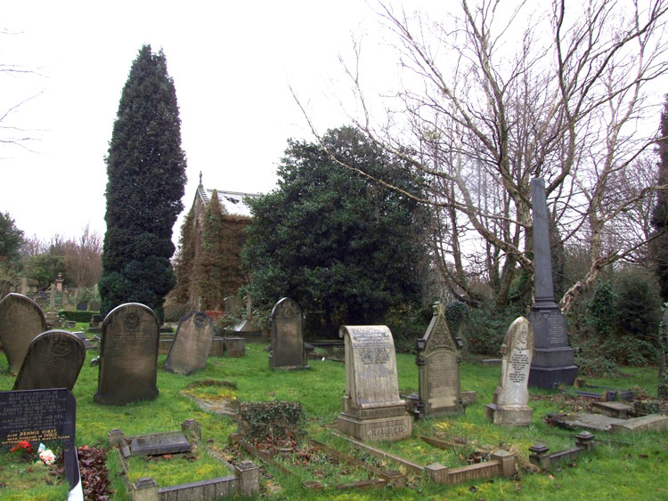 A View of Rotherham (Moorgate) Cemetery Showing the Pope Family Headstone