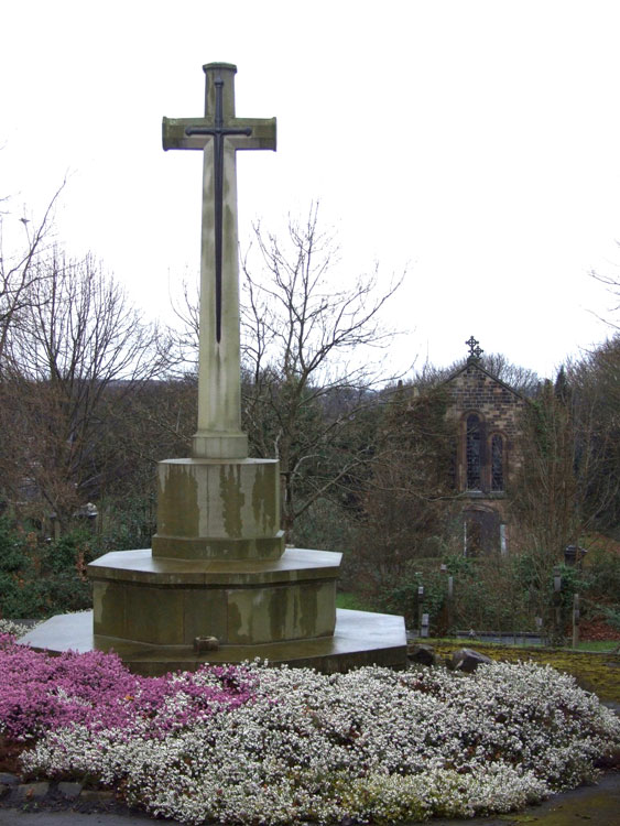 The Cross of Sacrifice at the Entrance to Rotherham (Moorgate) Cemetery