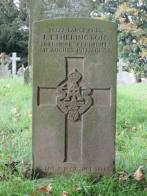 Lance Corporal James Etherington, 38177.