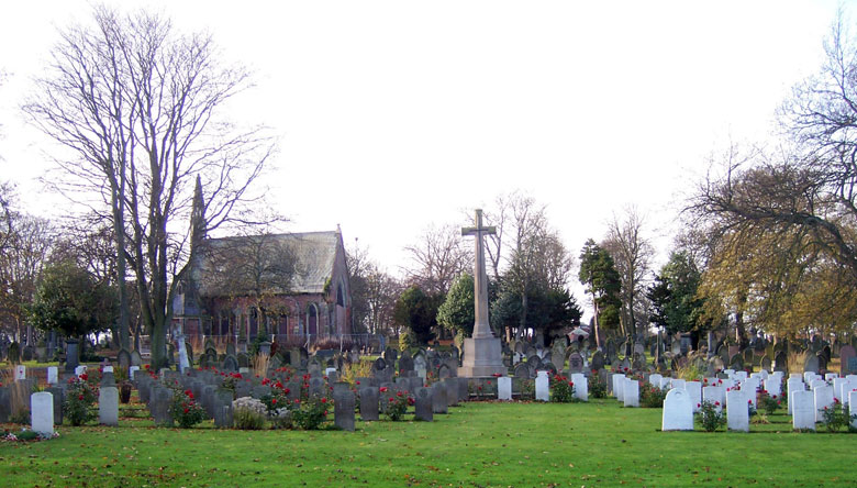 A view of Sunderland (Bishop Wearmouth) Cemetery