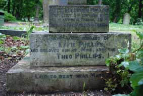 The right face of the  Phillips family memorial