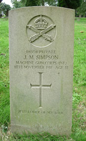 Private James Maxwell Simpson. 114304.