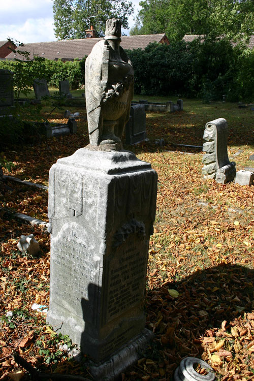 The Overton Family Headstone in St. Luke's Churchyard.