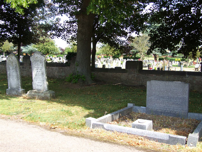 Wigston (Leics) Cemetery, - the plot in which L/Cpl Rudkin and his Wife are Buried