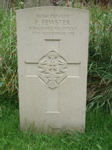 Private Frank Fewster. 265561