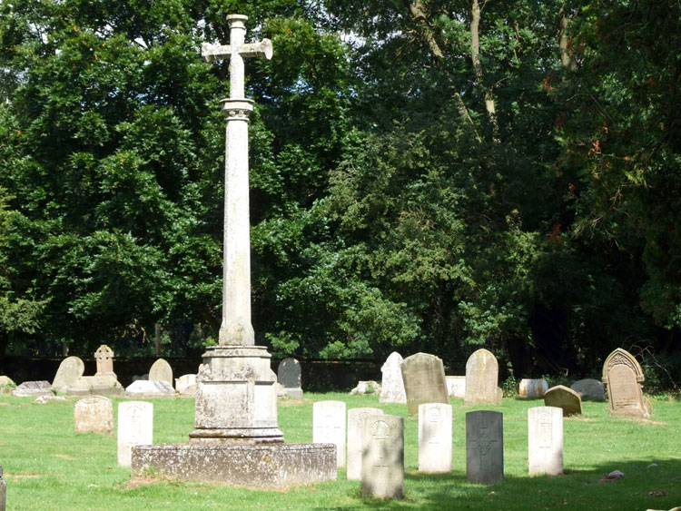The War Memorial for Ingham (Suffolk) in the Churchyard of St. Batholomew's, Ingham