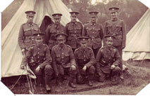 A group from the 12th Battalion the Yorkshire Regiment.