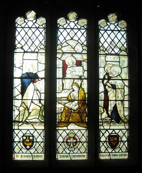 The Memorial Window in St. Oswald's Church, East Harlsey, dedicated to Captain Herbert Norman Constantine