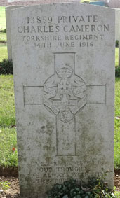 Private Charles Cameron. 13859.
