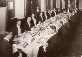 Officers of the 1st Battalion at a Gala Dinner, 1922
