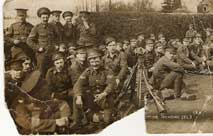 Soldiers of the Second Battalion the Yorkshire Regiment, photographed in Guernsey in 1913.