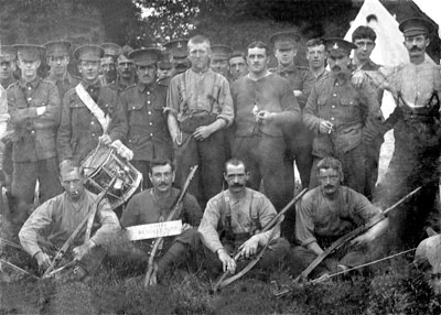 Soldiers of the 2nd Battalion, - in Camp September 1914?