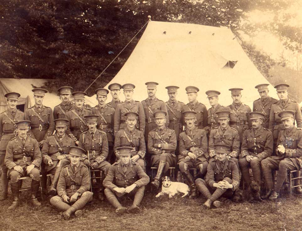 Officers of the Second Battalion the Yorkshire Regiment, photographed in